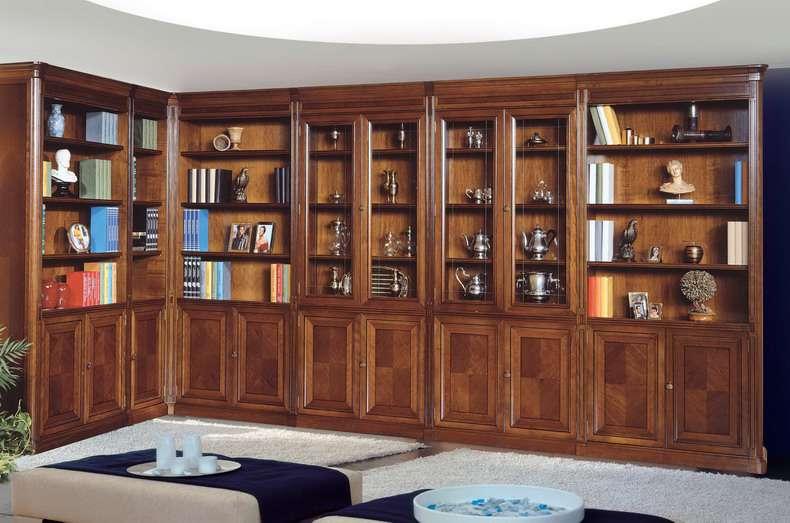 Armarios librerias de estilo clasico - Muebles despacho clasico ...